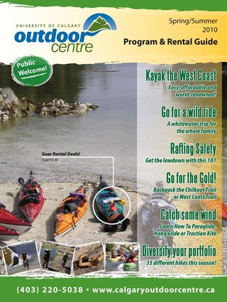Calgary Outdoor Centre Program and Rental Guide