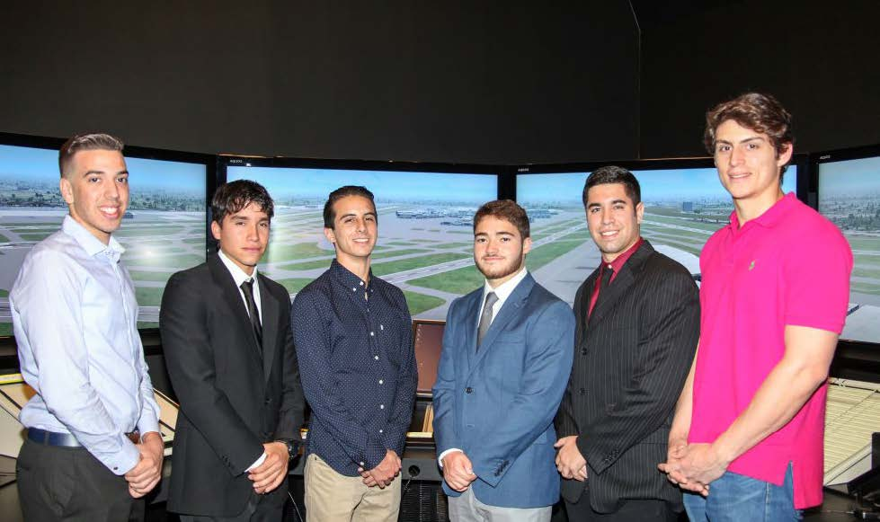 From left: Carlos Roman Jr., Jorge Sanchez, Reynaldo Aguero, Christopher Bazaka, Edward Hoyos and Sebastian Metral