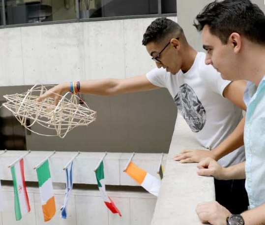 Students test their design theories in Building 1 at Wolfson Campus.