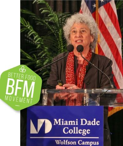 Dr. Marion Nestle offered the keynote address at MDC's first annual Better Food Movement Conference.