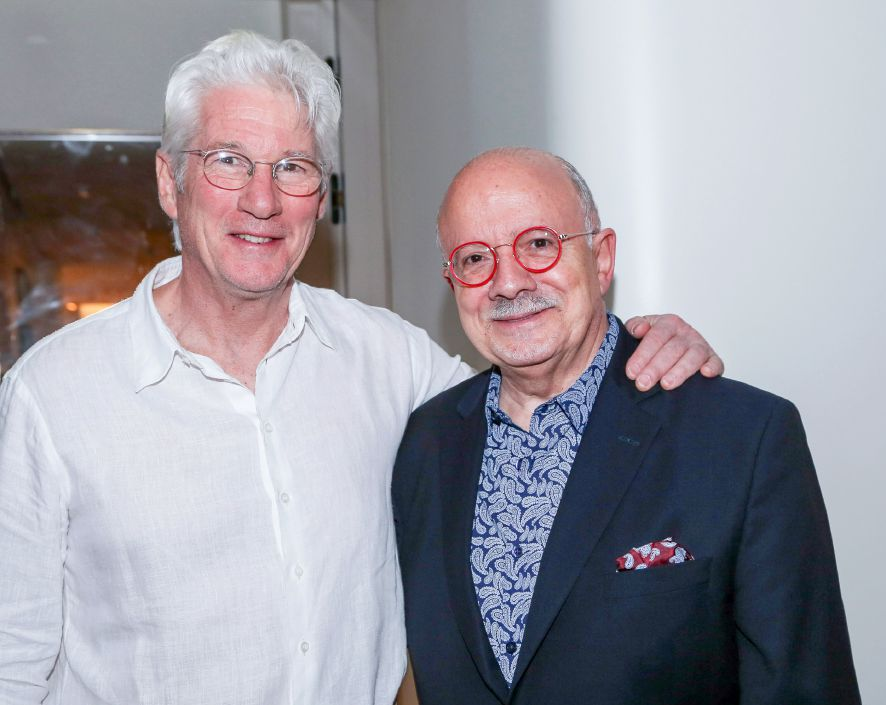 Renowned actor Richard Gere and President Padrón at the Miami Film Festival at MDC