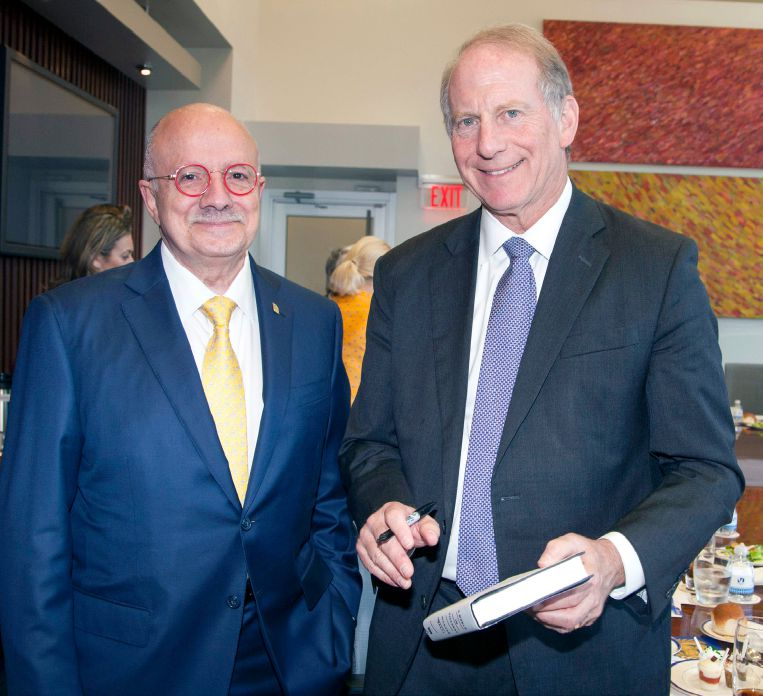 MDC President Dr. Eduardo J. Padrón and Dr. Richard Haass, President of the U.S. Council on Foreign Relations at MDC