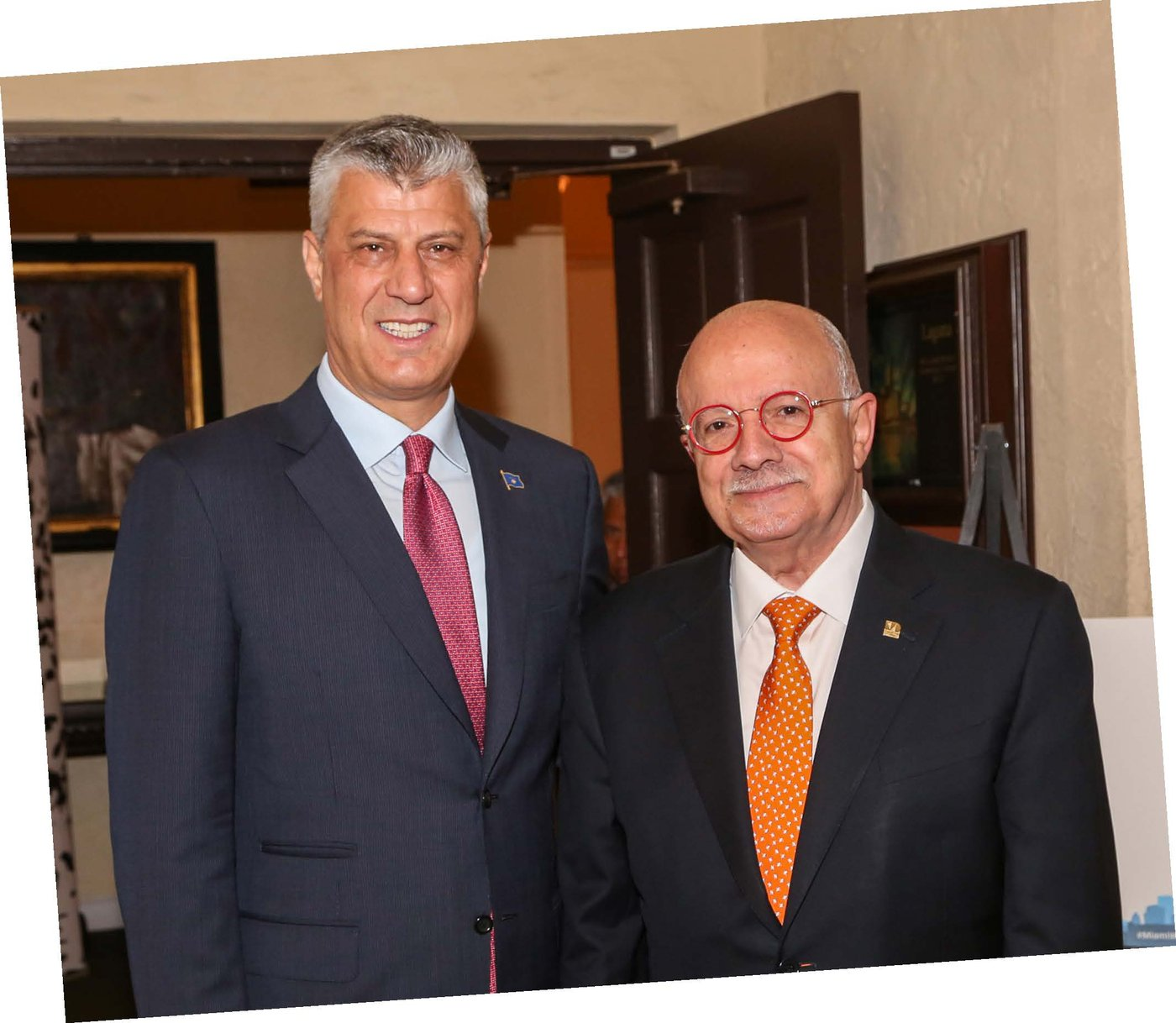 President of the Republic of Kosovo Hashim Thaci and President Padrón