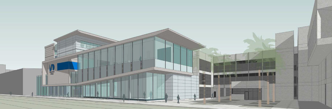 Architect's rendering of the new learning facility at Medical Campus