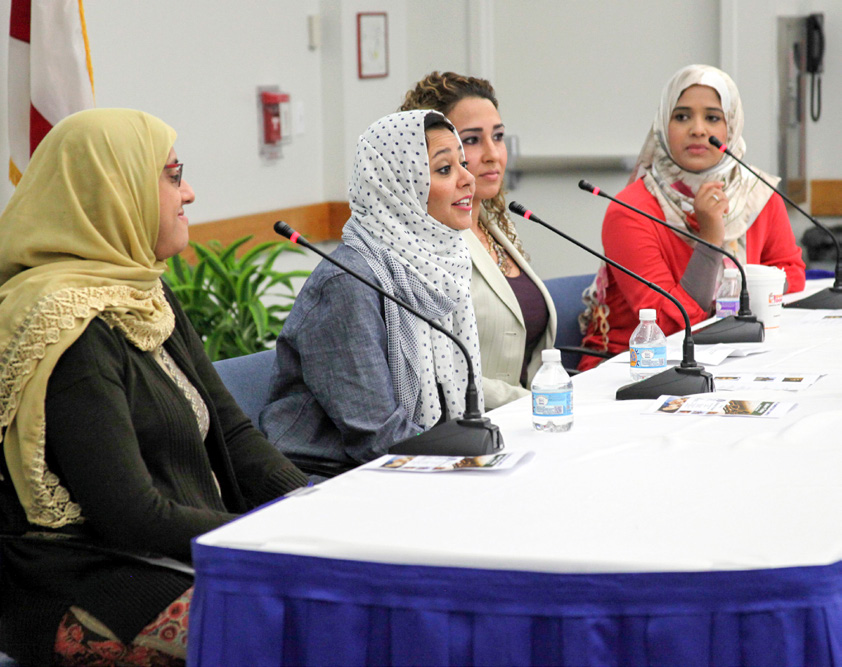 Islam Today Women's Panel with speakers Aisha Subhani, Saman Moyassaghi and Alla Alhejaili at Homestead Campus