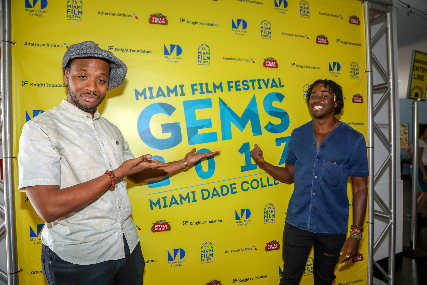 Film directors and New World School of the Arts alumni Joshua Jean-Baptiste and Edson Jean