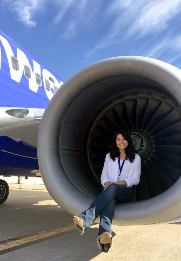 Ignaly Rivera Galarza at her Southwest Airlines internship