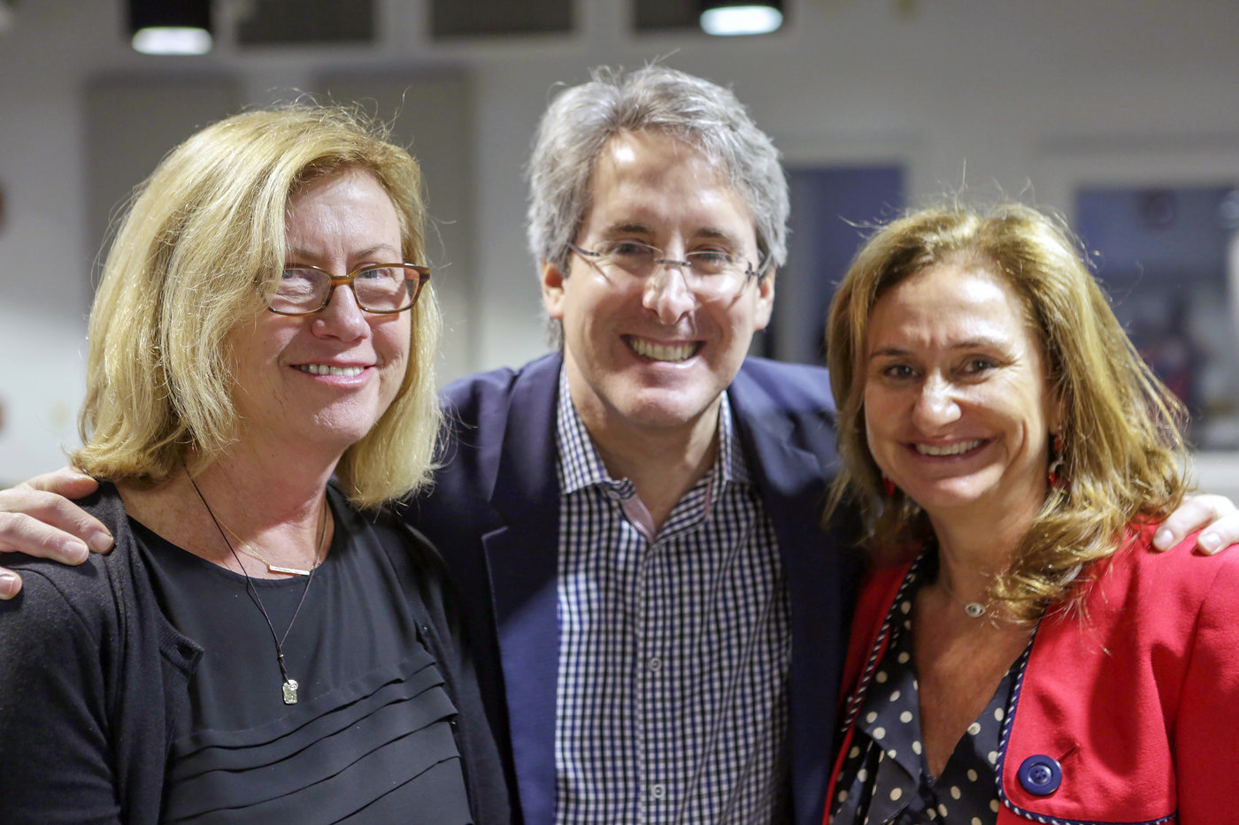 Patty McGoldrick, NP, of the Developmental Disability Center, Mount Sinai-Beth Israel Medical Center; Dr. Steven Wolf of Mount Sinai Medical School; and Michele Safra, President of Fundación Querer - U.S.