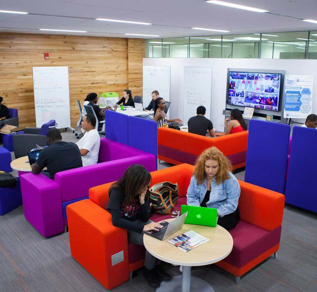 The Hub at North Campus, a high-tech learning and study space, was MDC's first MALL.