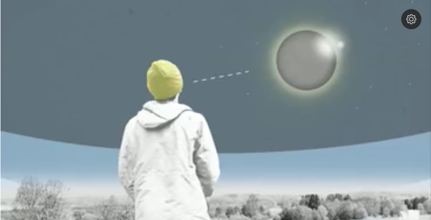 This image was captured from the animated guide to the recent eclipse that Jason Rivera and Ivan Delgado created for Univision Digital.