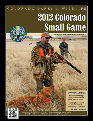 Colorado Small Game Brochure