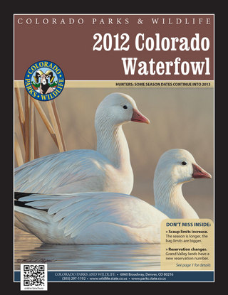 Colorado Waterfowl Brochure