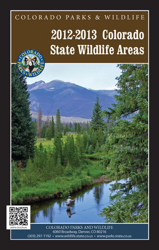 Colorado State Wildlife Areas
