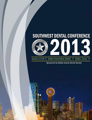 Southwest Dental Conference Registration Brochure