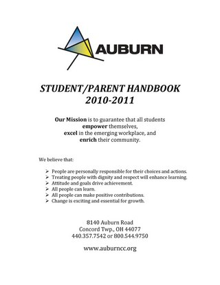 Auburn Career Center Student Parent Handbook