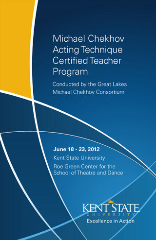 Kent State Michael Chekhov Acting Technique Brochure