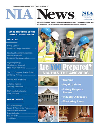 NIA News, February/March/April 2013