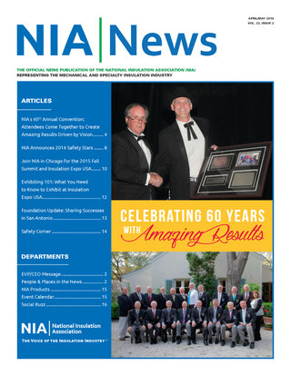 NIA News, April/May 2015, vol 22, issue 2
