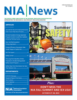 NIA News, June/July/August 2015, volume 22, issue 2