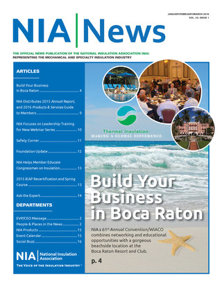 NIA News, Jan/Feb/March 2016, volume 23 issue 1