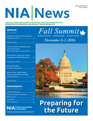 NIA News, June/July/August 2016, Vol 23, Issue 3