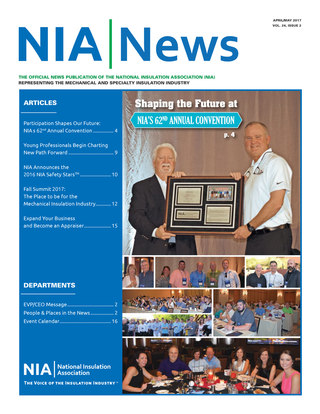 NIA News, April/May 2017, Vol. 24, Issue 2