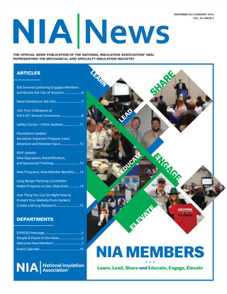 NIA News, December 2017/January 2018, Vol 24 Issue 5