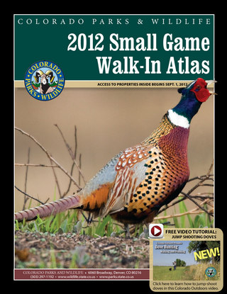 Colorado Small Game Walk In Atlas