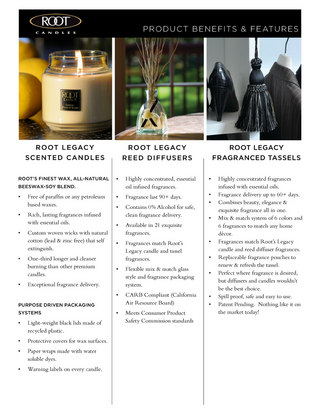 Root Candles Product Benefits and Features