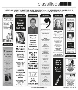 February 24, 2010 Print Edition Classifieds