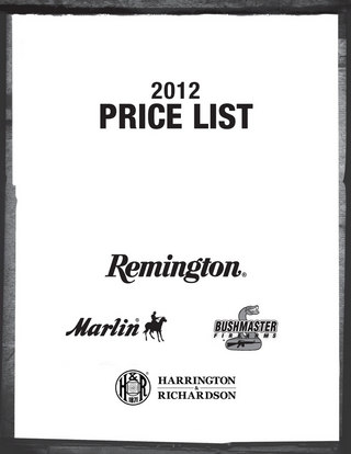 2012 All Brand Consumer Price List