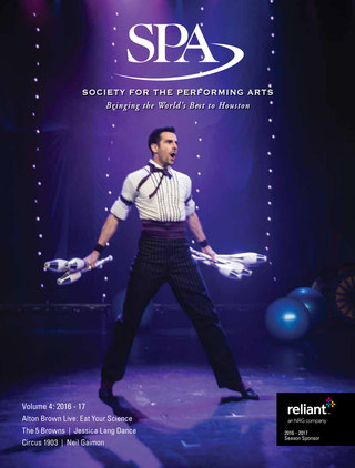 Society For The Performing Arts Magazine