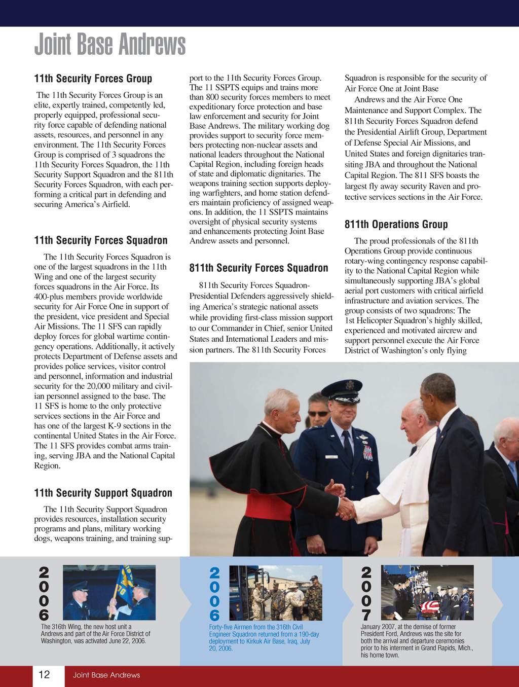 Joint Base Andrews Guide 2016