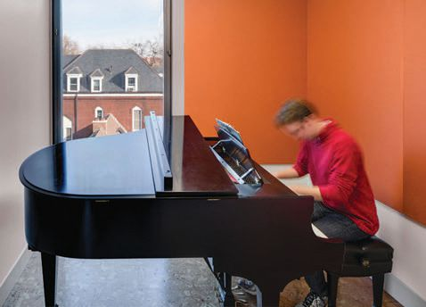 Practice facility where pianist can master skills