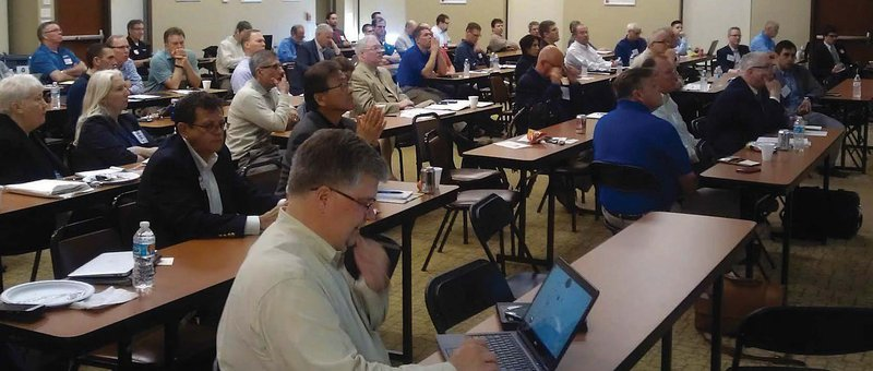 Symposium attendees meet leaders and learn about the developments of the BIM for Masonry (BIM-M) Initiative, held at the St Louis Masonry Center, hosted by the Masonry Institute of St Louis and Mason Contractors Association of St Louis