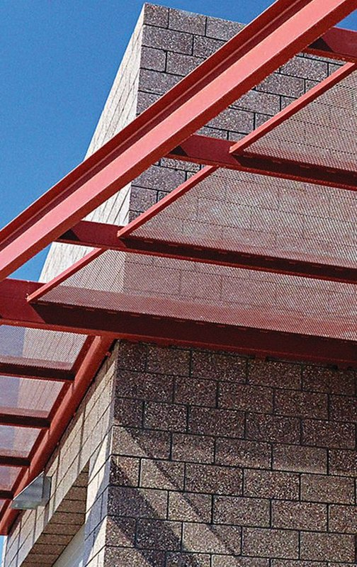 Single-wythe, integrally-colored ground face CMU was a primary contributor to achieving the sustainability goals and green building techniques the City of Phoenix desired for this desert fire station. Additionally, the contemporary aesthetic, thermal mass benefits, sound isolation and low maintenance ensured masonry was the best material for the job.