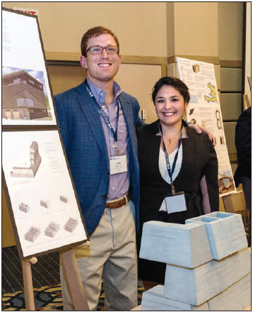North Carolina State University Architectural students Smith Marks and Paola Gonzalez win with Angle Face Block.