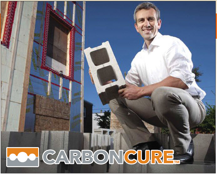 Robert Niven, CEO and founder of CarbonCure, onsite in downtown Halifax at one of the first installations of CarbonCure block produced by Shaw Brick Lantz, Nova Scotia