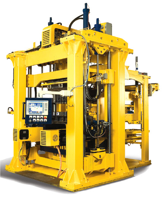 Figure 7C. Servopac by Besser is a state-of-the-art block machine allowing quick mold and height changes to be complete in just 15 minutes