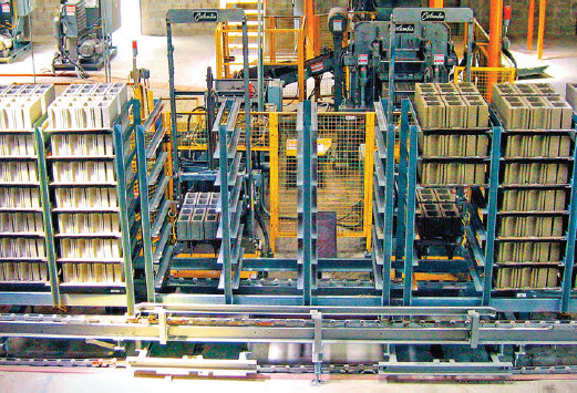 Figure 4. Fully automated pallet loading replaced the Monkey-on-a-Stick