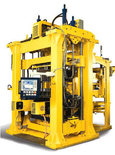 6aat state-of-the-art block machine capable of producing 16 different block products