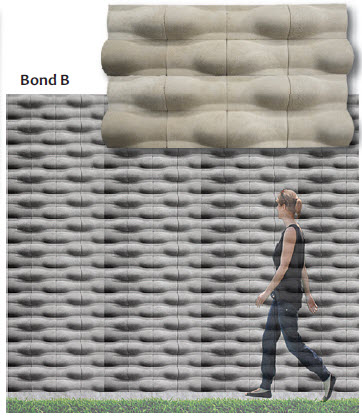 Designed horizontally to be used as coping that could be installed at the top of the wall