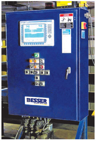 Figure 9. Besser Rack Transporter Automation Panel allows simple and easy control of such a large and heavy duty piece of equipment