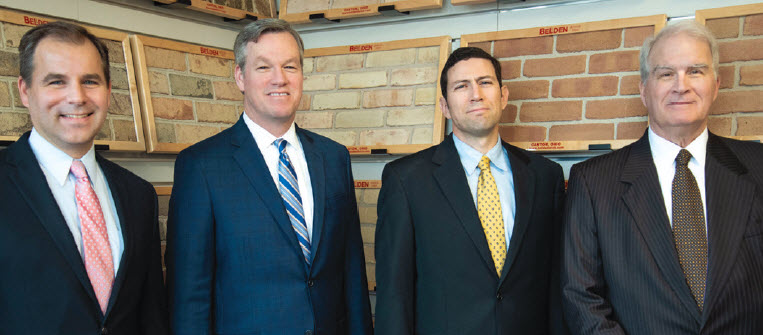 New Fifth Generation Leaders of Beldens, from left, Bradley H Belden, Brian S Belden, Robert T Belden and fourth generation Robert F Belden remains in top position as chair and CEO