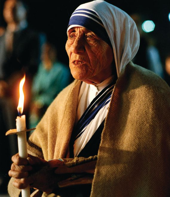 Mother Teresa is pictured in an undated photo.