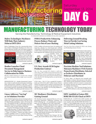 Manufacturing Technology Today