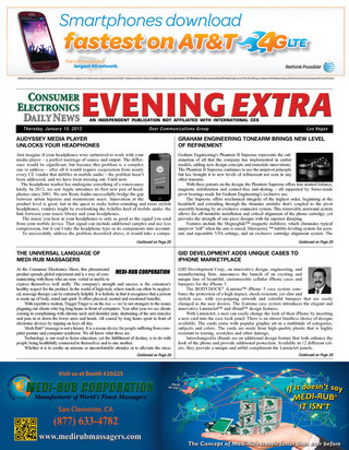 Consumer Electronics Daily News EVENING EXTRA