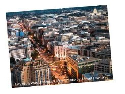 City view over Thomas Circle, Photo by Aboud Dweck