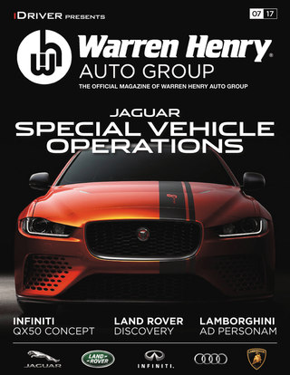 July - 2017 JAGUAR SPECIAL VEHICLE OPERATIONS