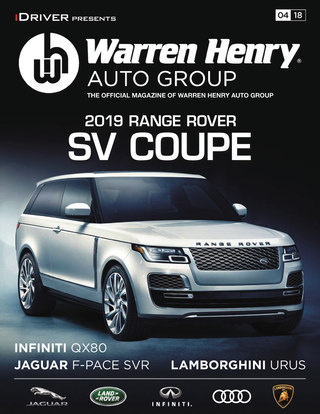 April - 2019 RANGE ROVER SV COUPE